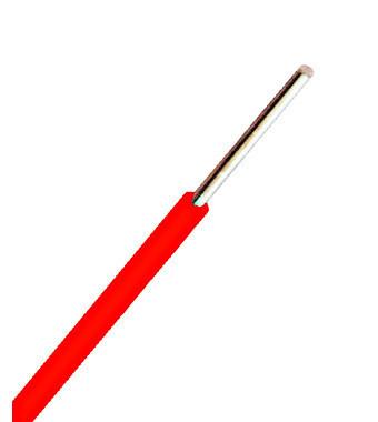 Conductor cu izolaţie din PVC H07V-U 1,5mm² Cu roşu/100m