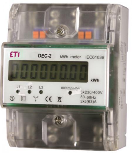 Contor de energie digital,trifazat, seria DEC-2, ETI