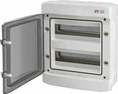 Tablou electric aparent, 24 module, IP 65, ETI