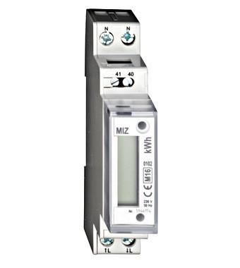 Contor de energie digital, monofazat, 32A, masurare directa, Schrack Technik