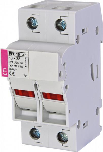 Separator cu sigurante fuzibile, EFD 10 LED, 2 poli, maxim 32A