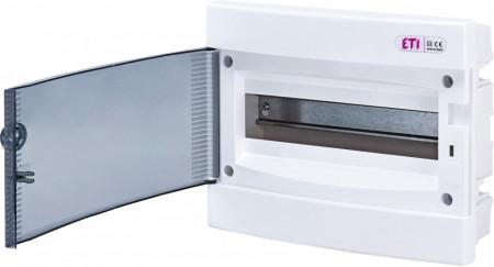 Tablou electric incastrat, 12 module, usa transparenta, IP 40, ETI