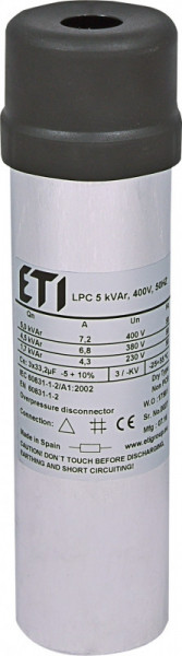 Condensator trifazic LPC 5 kVAr, 400V, 50Hz