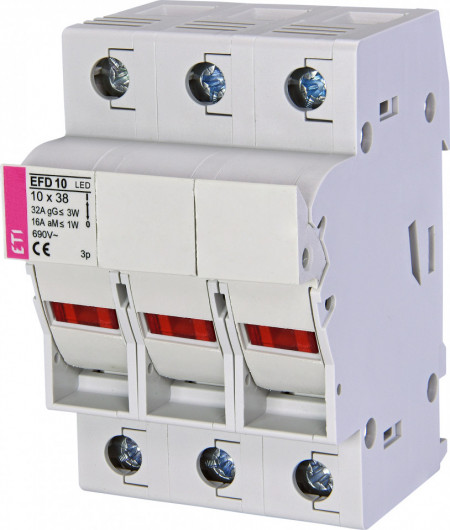 Separator cu sigurante fuzibile, EFD 10 LED, 3 poli, maxim 32A