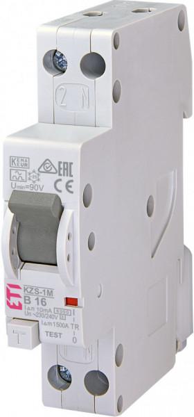 RCBO KZS-1M, tip A, B 16 A, 10 mA, 6 kA, 1 modul