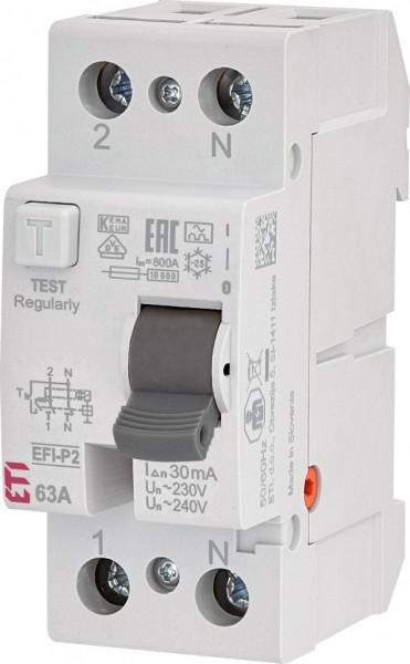 RCCB EFI-P2, tip A, 63 A, 30 mA