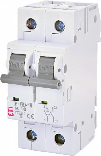 Siguranta automata 1P+N, 2 module, curba B, 10 A, 6 kA, ETI