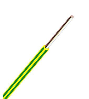 Conductor cu izolaţie din PVC H07V-U 1,5mm² Cu verde/galben/100m