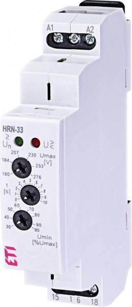 Releu de monitorizare tensiune monofazic - HRN 33