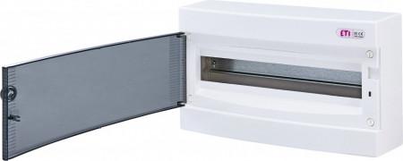 Tablou electric aparent, 18 module, usa transparenta, IP 40, ETI