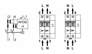 AFDD, seria Lisa, B 16 A, 2 poli, 30 mA, tip A, 10 kA