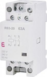 Contactor modular monofazat R63-20 230 V ETI