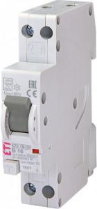 RCBO KZS-1M-DN cu protectie la supratensiune, tip A, B 16 A, 30 mA, 6 kA, 1 modul