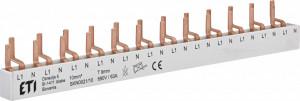 Bareta tip pin pentru sigurante 1P+N (1 modul)