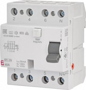 RCCB EFI-P4, tip A, 40 A, 30 mA