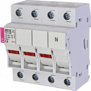 Separator cu sigurante fuzibile, EFD 10 LED, 3 P+N, maxim 32A