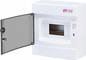 Tablou electric aparent, 8 module, usa transparenta, IP 40, ETI