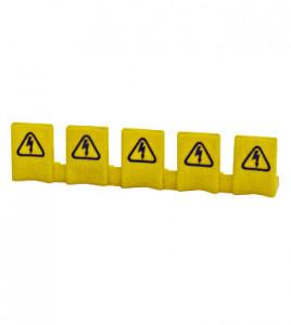 Protectie busbar impotriva atingerii directe, 5 borne, galben