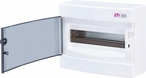 Tablou electric aparent, 12 module, usa transparenta, IP 40, ETI