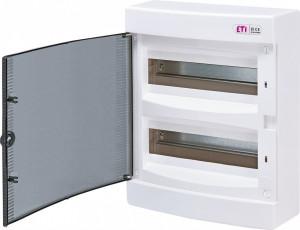 Tablou electric aparent, 24 module, usa transparenta, IP 40, ETI