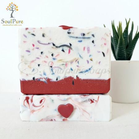 Red Clay Confetti Soap