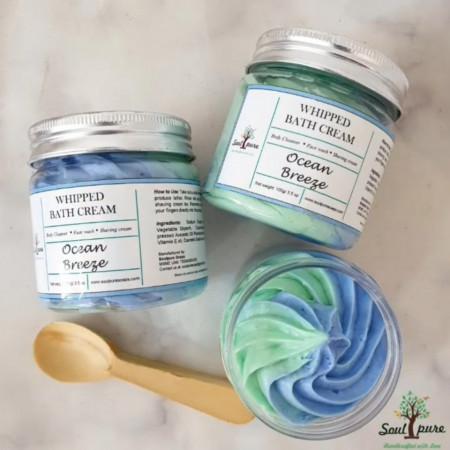 Ocean breeze whipped bath cream