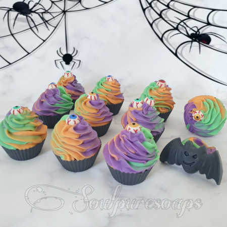 Spooky eyed double butter soapy cupcakes