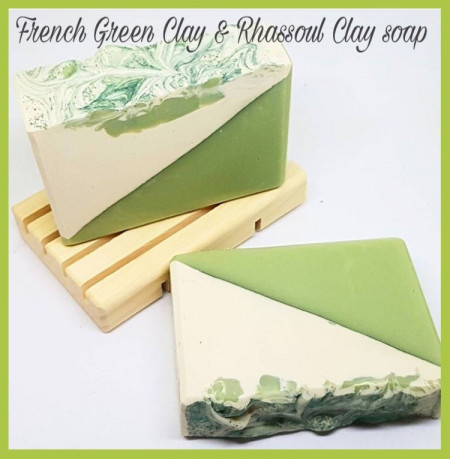 French Green Clay & Rhassoul Clay soap images