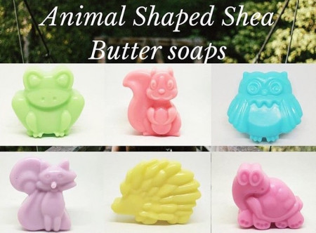 Animal Shaped Shea Butter Soap images