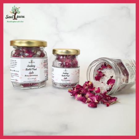 Rose Geranium bath salt/Foot soak