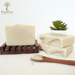 French Eco Certified blue clay soap with Frankincense oil