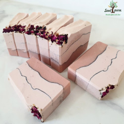 Pink Orchid soap with Rose Clay