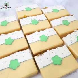 Sunshine soap with poppy seed