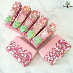 Rose Quartz (with real Gemstone) soap