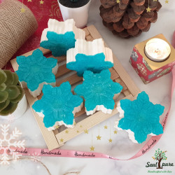 Snowflake double butter soap