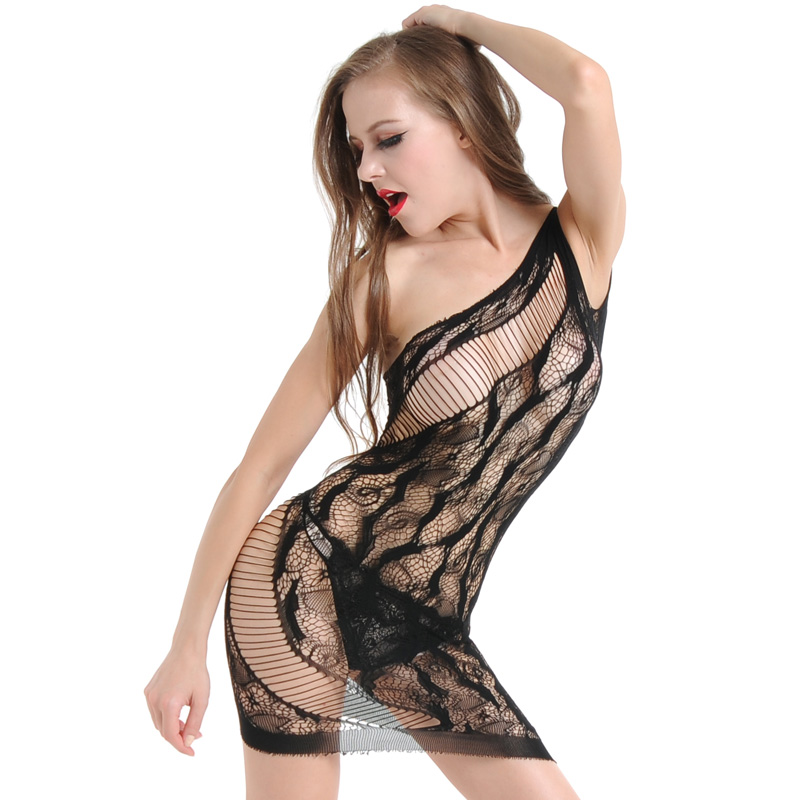 Baby Doll Lingerie Fishnet Mini Dress Free Size