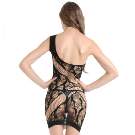 Baby Doll Lingerie Fishnet Mini Dress Free Size - Imported from USA
