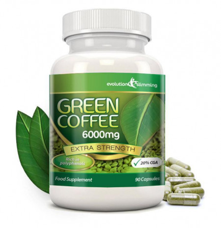 Green Coffee Bean Extract 6000mg - Imported from UK