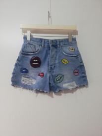Pantaloni scurți Zara Trafaluc denim