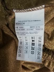 Rochie Benetton cu fibre aurii