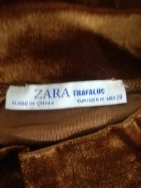 Rochie catifelată cu aspect lucios Zara Trafaluc