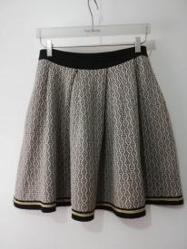 Fustă tricotată Kaos cu inserții fire aurii