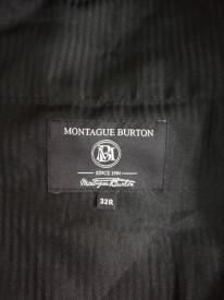 Pantaloni lănă Montague Burton cu aspect lucios