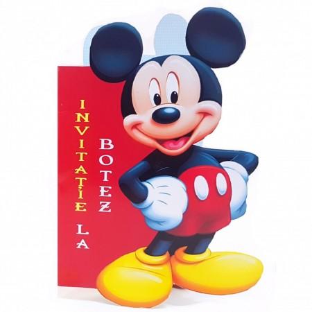 Invitatie Botez Contur Mickey Mouse 4