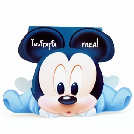 Invitatie Botez Contur Mickey Mouse 6