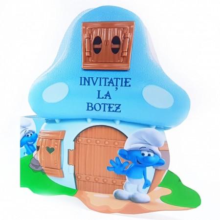 Invitatie Botez Contur Strumf 5