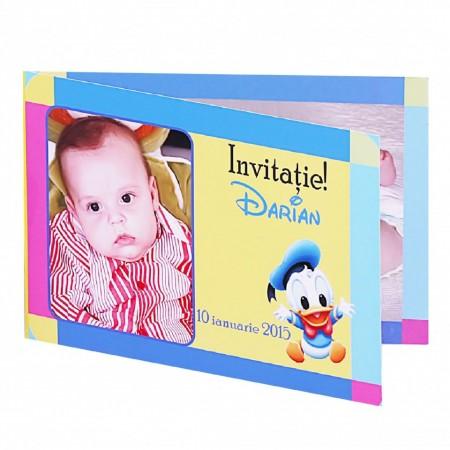 Invitatie Botez Dubla Baby Donald