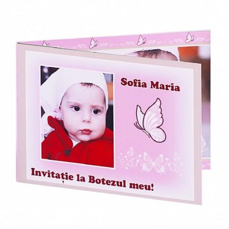 Invitatie Botez Dubla Fluture
