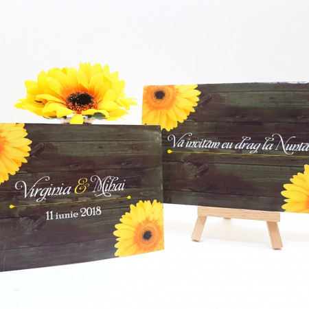 Invitatie Nunta PRO Floarea Soarelui