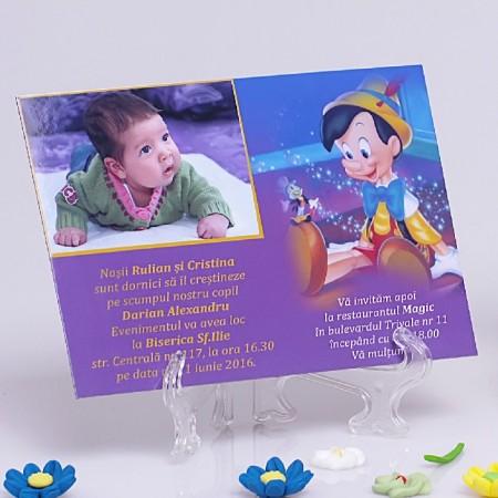 Invitatie Botez Magnetica Pinocchio